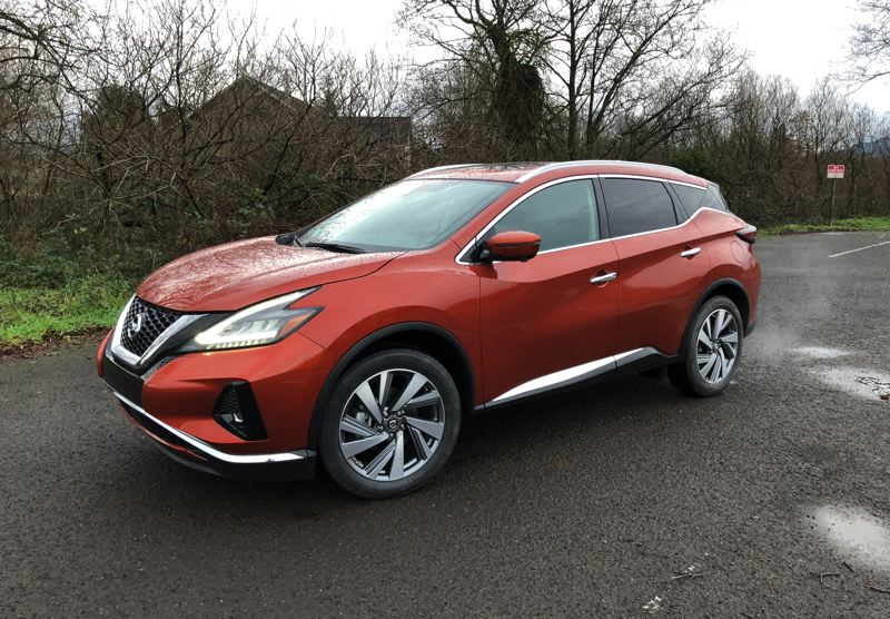 PORTLAND TRIBUNE: JEFF ZURSCHMEIDE - The 2019 Nissan Murano is available only as a two-row, five passenger model, so it has more room for front and reat seat passengers than mid-size crossover SUVs with three rows of seats.