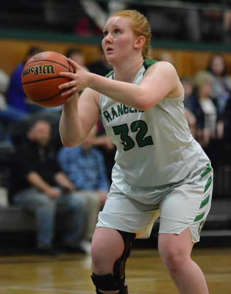 ESTACADA NEWS: DAVID BALL - Estacadas Rylie Canifax hit three straight at the free-throw line after being fouled on a 3-pointer at the second-quarter horn.