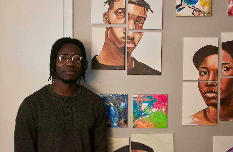OUTLOOK PHOTO: CHRISTOPHER KEIZUR - Otis Kwame Kye Quaicoe moved to Gresham in 2017 after a successful career as an artist in Ghana.