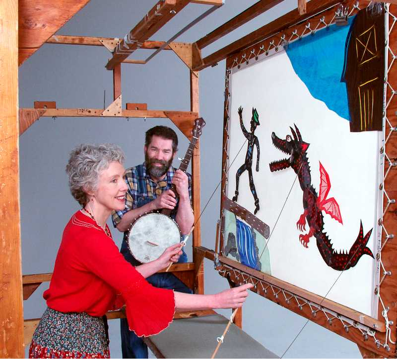 COURTESY PHOTO: OREGON SHADOW THEATRE - Deb Chase and Mick Doherty have performed for their company, Oregon Shadow Theatre, for more than 35 years.