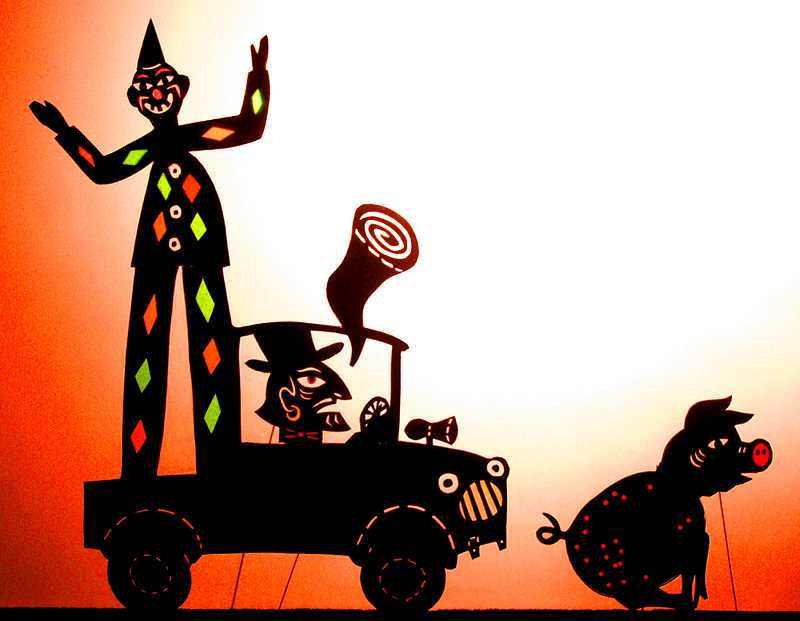 COURTESY PHOTO: OREGON SHADOW THEATRE - 'The Green Bird, A Mexican Story' by Oregon Shadow Theatre is created by musician Mick Doherty and shadow puppets by Deb Chase.