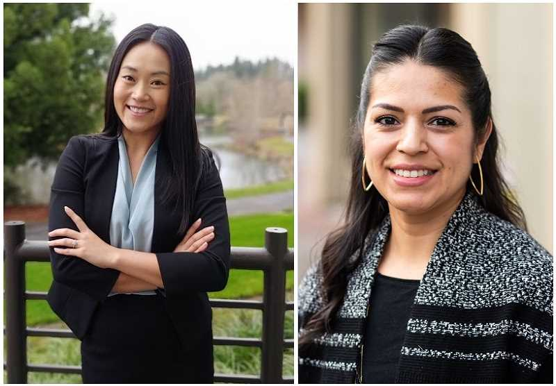 See Eun Kim, left, and incumbent Yadira Martinez, right, have announced they will seek seats on the Hillsboro School Board. Martinez is currently serving out the term of former board member Wayne Clift, who left last year.