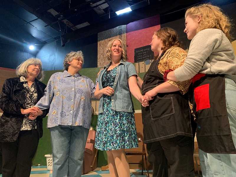 STAFF PHOTO: JANAE EASLON - 'Steel Magnolias' by Theatre in the Grove stars Robin Reece Michaels, Anne Kennedy, Patti Speight, Leslie Inmon, Emma Heesacker and Yelena King.