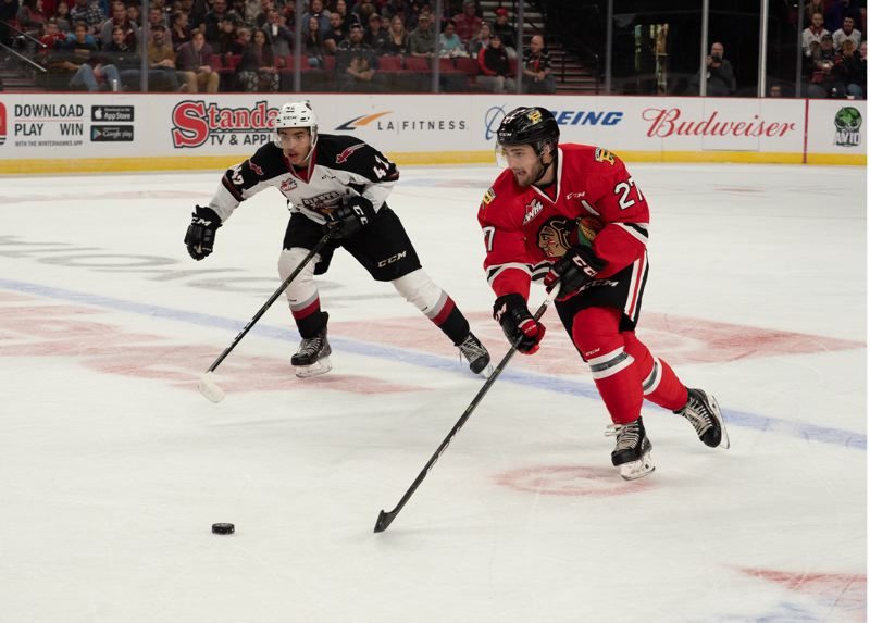 COURTESY: PORTLAND WINTERHAWKS/CHAD BAKER - Defenseman Jared Freadrich has been a quarterback on the power play this season for the Portland Winterhawks.