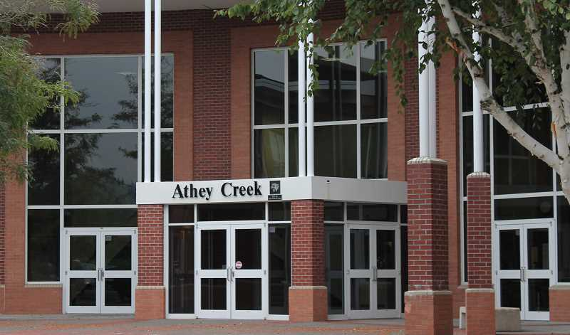 SPOKESMAN PHOTO - One proposal to meet the districts need for high school spaces is to rebuild Athey Creek elsewhere and remodel the existing building into a small high school.