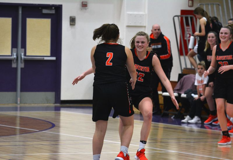 TIMES PHOTO: MATT SINGLEDECKER - The Beaverton girls basketball team beat Sunset as sophomore Mackenzie Naro buried eight three pointers.