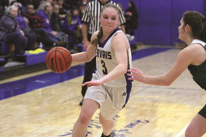 PHIL HAWKINS - Gervais junior Mary Davidson led the Cougars with 12 points in the teams 41-25 victory over Western Christian on Friday.