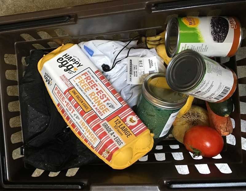 SUBMITTED PHOTO - What does a plastics-free shopping trip look like? Here are the results of one of Jenny Slrepian's recent visits to the grocery store.