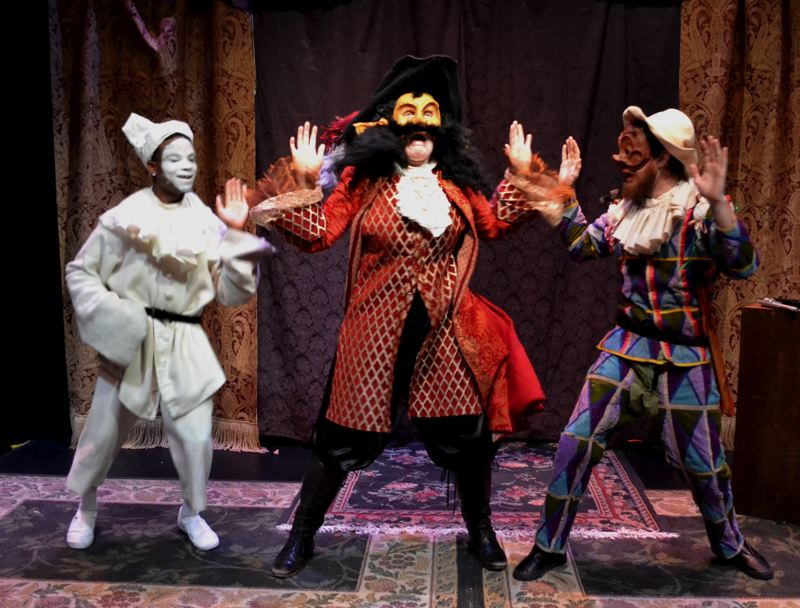 CONTRIBUTED PHOTO: LINN-BENTON COMMUNITY COLLEGE - 'I Got Guns' was conceived in the commedia dellarte, a farcical comedic style from the Italian Renaissance.