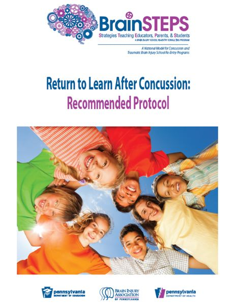 COURTESY OF THE PENNSYLVANIA DEPARTMENT OF EDUCATION - Educators in Pennsylvania, through the BrainSteps program, are reminded that while students with concussions must be fully healed before they Return to Play in athletics, their Return to Learn activities should begin much sooner.