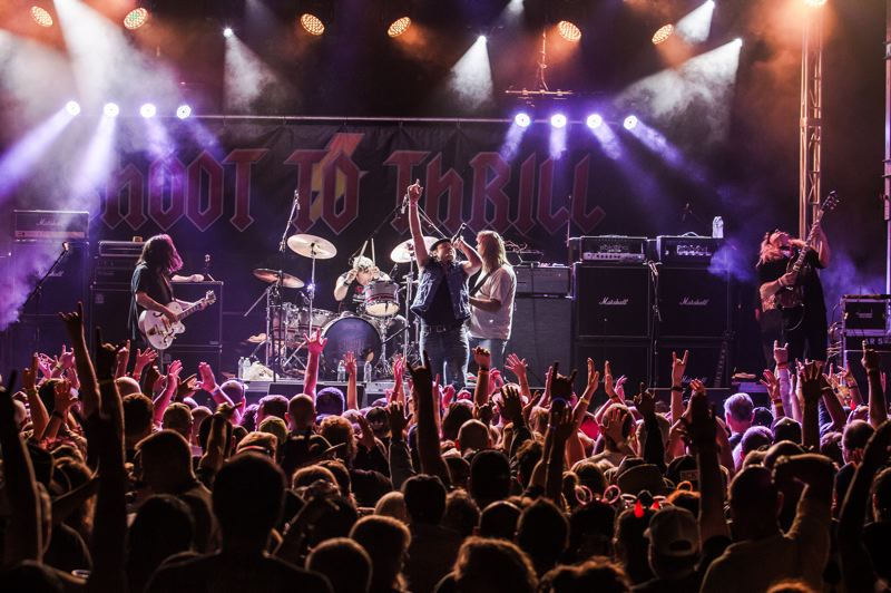 COURTESY: RANDY HOOD - Acclaimed AC/DC tribute band Shoot To Thrill plays the Aladdin Theater, Jan. 19, along with Jukebox Heroes.