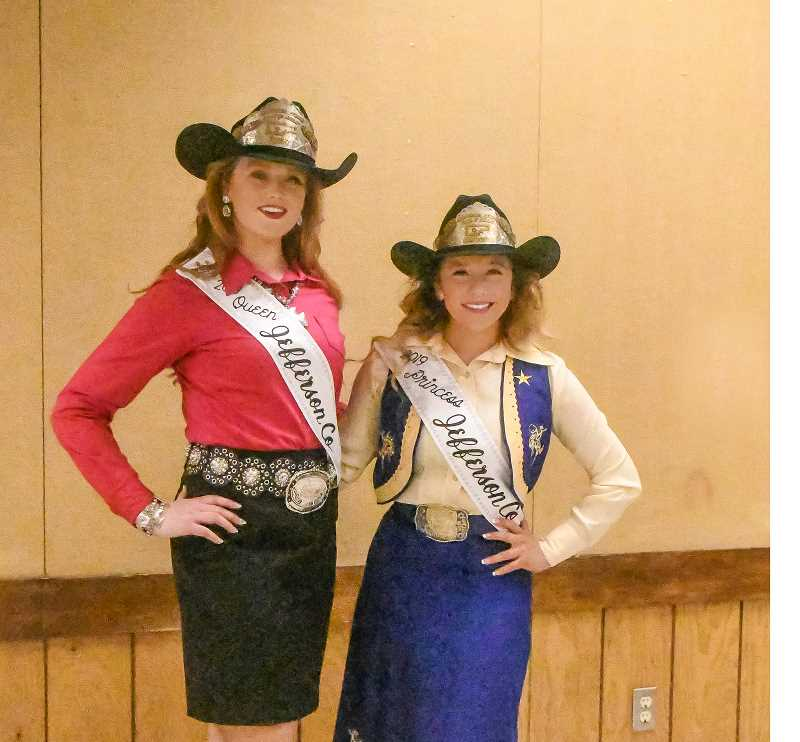 PHOTO BY LINDA LARSON - J.C. Fair Court Queen Lindsey Sullivan, left, and Princess Mary Olney.