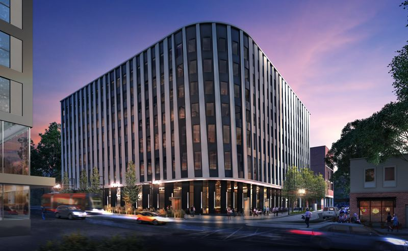 COURTESY: PORTLAND STATE UNIVERSITY - The Fourth and Montgomery Building, slated for completion in fall 2020, will be built on the site of a former parking lot near Portland State Universitys Academic and Student Rec Center.