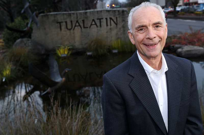 TIMES PHOTO: JAIME VALDEZ - Lou Ogden served as mayor of Tualatin for almost a quarter of a century. He said he learned about the city along the way, where he was a big proponent of business and of finding solutions for traffic problems.