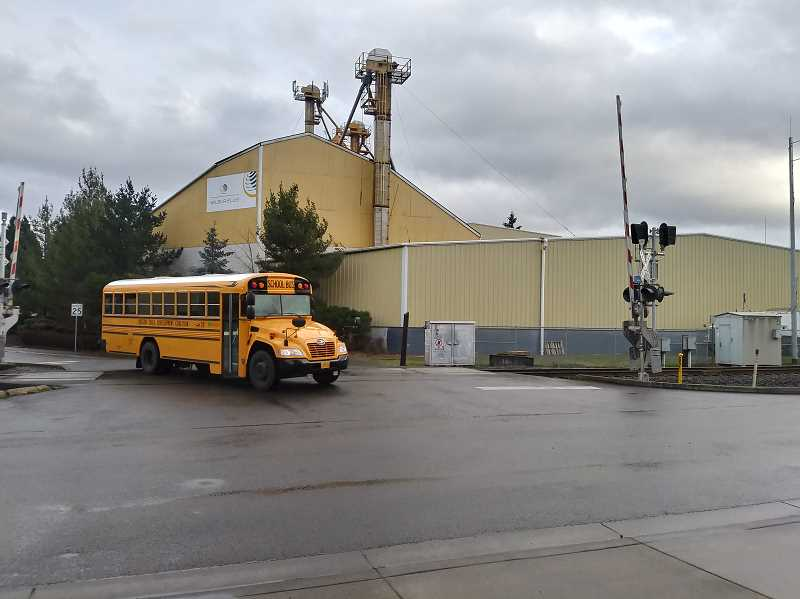 WOODBURN INDEPENDENT: JUSTIN MUCH - With a railroad crossing and an awkward, slanted approach to the junction, the Front Street and Hardcastle Avenue intersection is a priority in Woodburns transportation infrastructure improvements.
