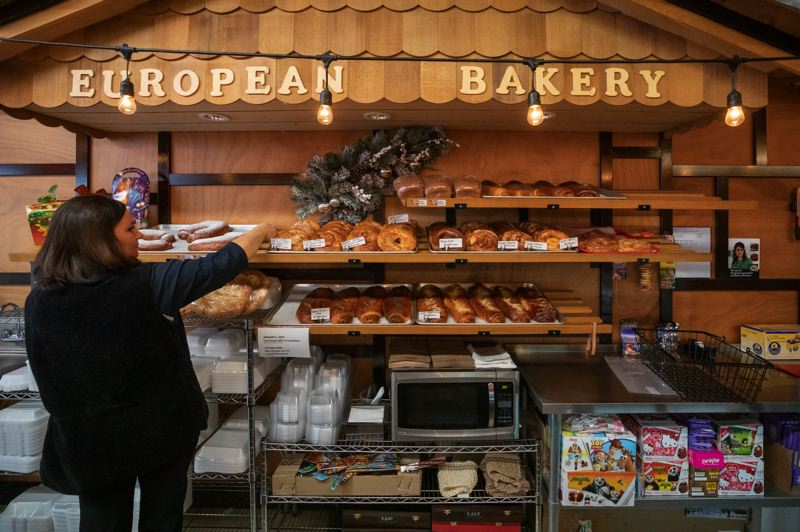 TRIBUNE PHOTO: JONATHAN HOUSE - Bread is stocked at Russian Elegant Food and House of Bread.