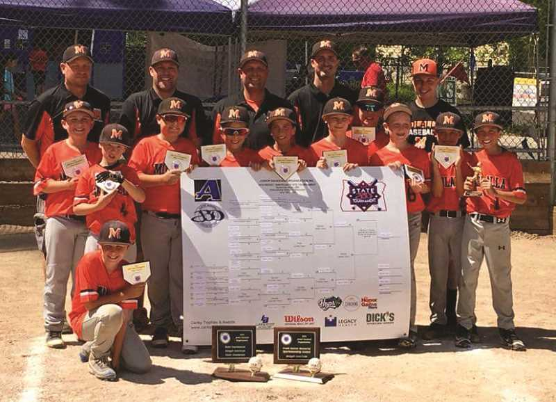 PAMPLIN FILE PHOTO - Pictured is the Molalla Midgets baseball team after winning the state tournament in August.