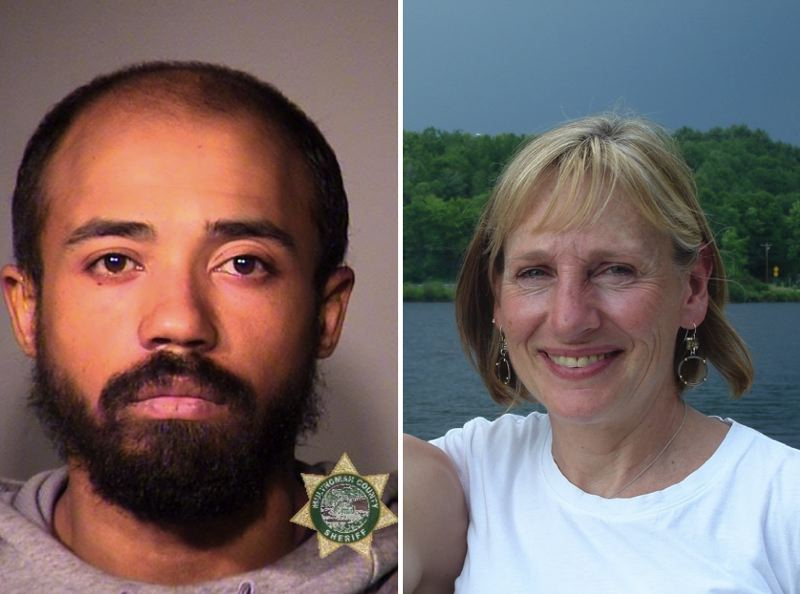 VIA PPB / MCSO - FROM LEFT: Christopher Williamson and his alleged victim, Nancy Bergeson