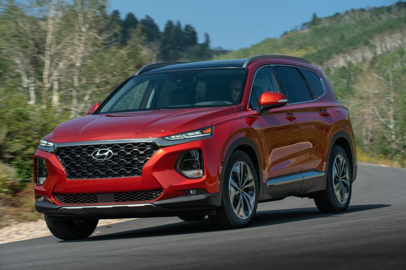 HYUNDAI MOTOR AMERICA - The Hyundai Santa Fe has been completely redesigned for 2019, and comes with two engine choices and available all-wheel-drive, a good option for the Pacific Northwest.