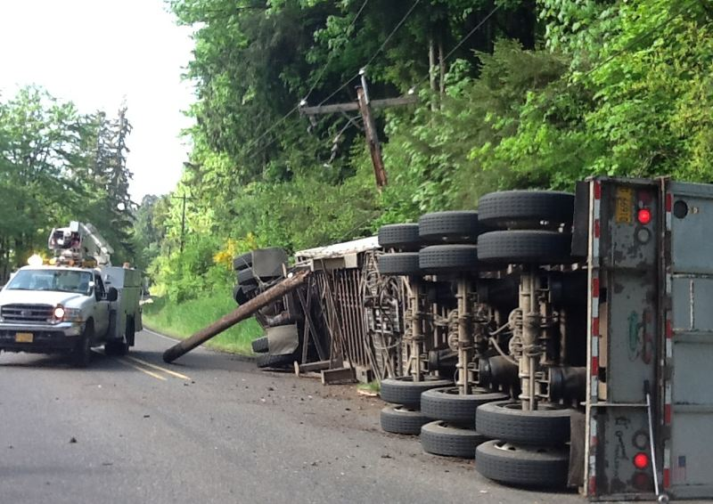 COURTESY MULTNOMAH COUNTY - This is a photo of just one of many crashes that have happened on the Multnomah County portion of Cornelius Pass Road over the years.