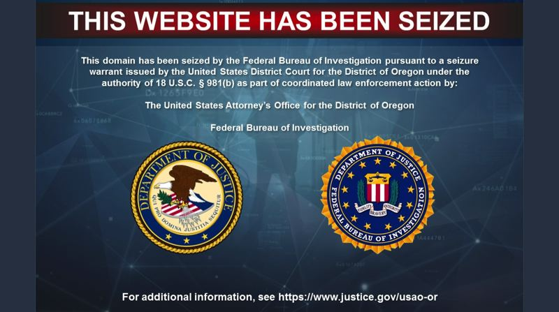 SCREENSHOT - The website supermatchescort.com has been seized by the FBI