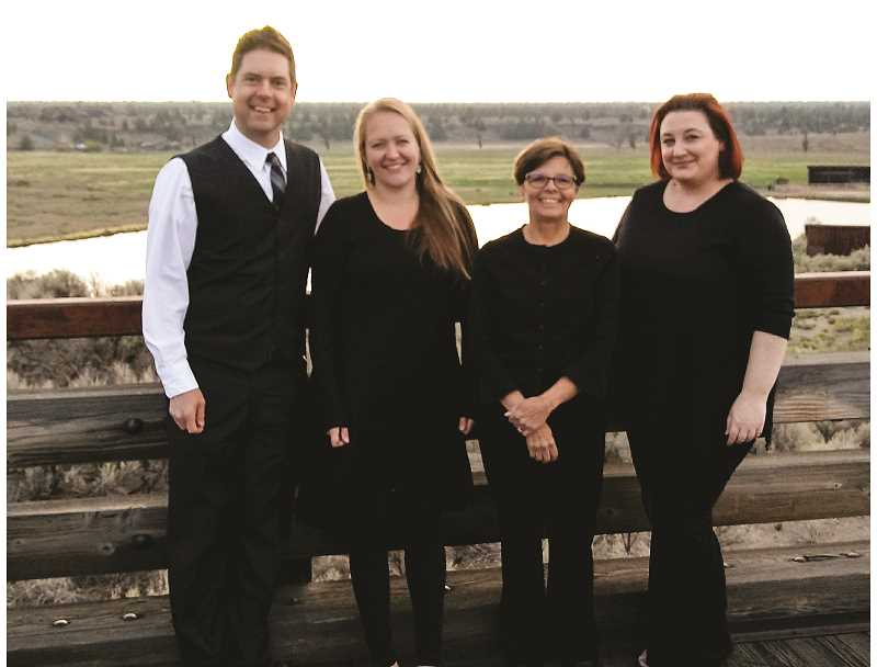 PHOTO COURTESY OF CENTRAL OREGON SYMPHONY  - Dove String Quartet will perform in Prineville this Saturday as part of the Central Oregon Symphony's Music in Public Places program. Their repertoire includes pop, classical, baroque songs and more.