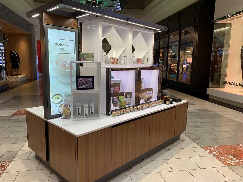 STAFF PHOTO: JANAE EASLON - Mamancy Tea's kiosk is located in the Washington Square Mall in Tigard and hopes to open a storefront in Hillsboro in the near future.