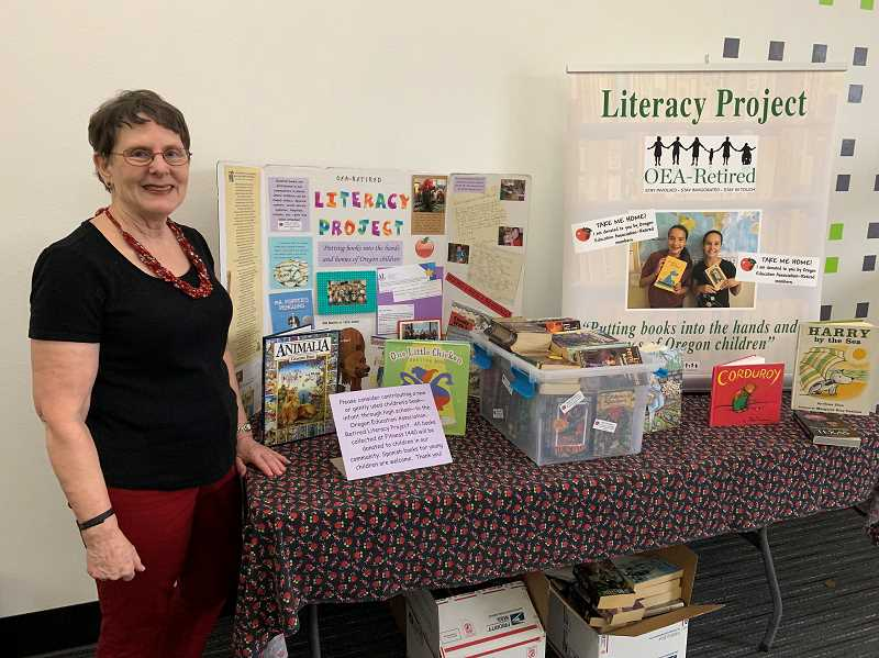 STAFF PHOTO: JANAE EASLON - Janet Jackson, a retired teacher from the Hillsboro School District for 20 years, works with Oregon Education Association-Retired to bring books to classrooms.