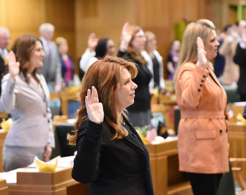 SUBMITTED PHOTO - Charbonneau representative Christine Drazan was sworn into the legislature last Monday.