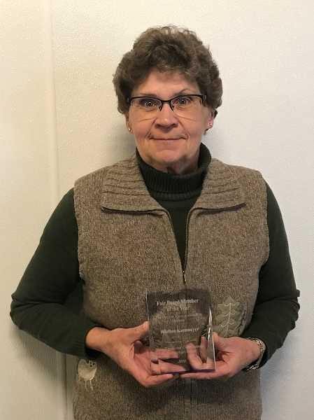 Clackamas County Fair Board member Raeline Kammeyer was recently named the Fair Board Member of the Year by the Oregon Fairs Association.