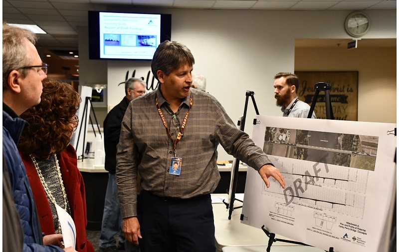 CAROL ROSEN - Attendees at the Canby Ferry feasibility study were shown concept art about what a toll bridge, and other options, might look like in lieu of the Canby Ferry.