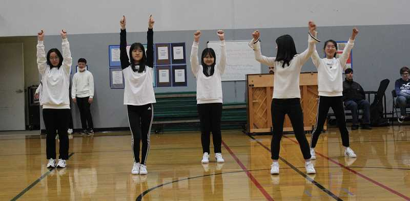 KRISTEN WOHLERS - The visiting students from South Korea entertained students with their own dance.