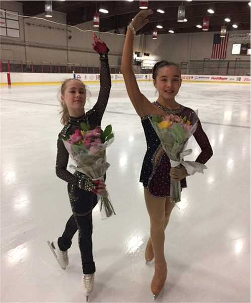 COURTESY PHOTO - Alena Budko and Tia Hilbelink are skating this week in the U.S. Figureskating Championships. Both girls have been skating since they were 5 years old.