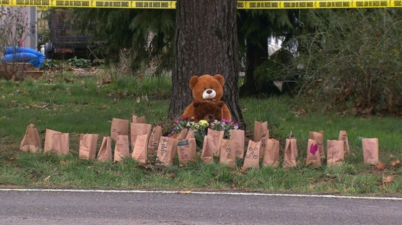 KOIN 6 NEWS PHOTO - A memorial outside the Clackamas County home where four people were murdered on January 19, 2019.