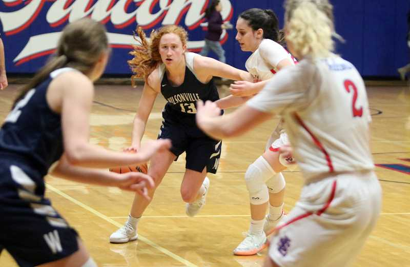 PAMPLIN MEDIA GROUP PHOTO: JIM BESEDA - Sophomore Sydney Burns led the charge against La Salle.
