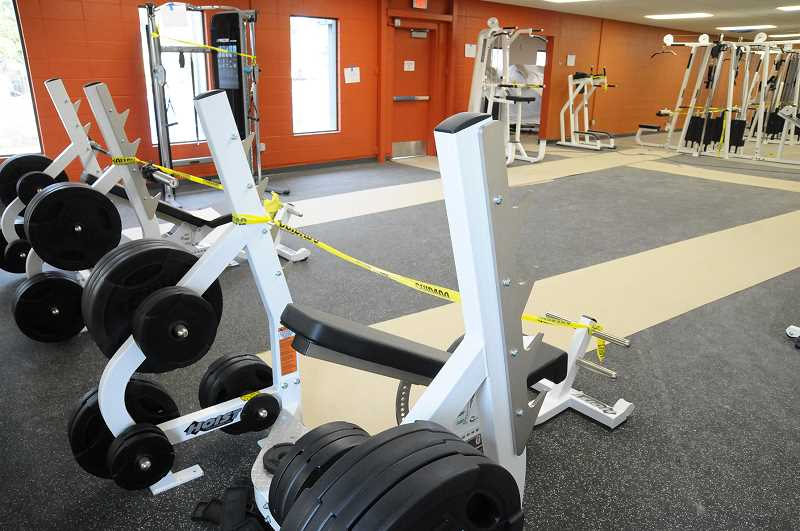 GARY ALLEN - Completion of the weight and cardio portions of the fitness center is dependent on the park district receiving the remainder of the machines.