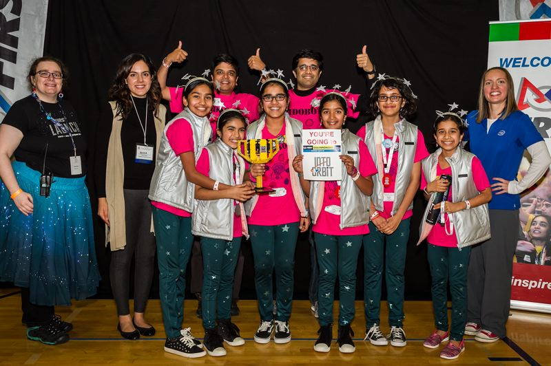 COURTESY PHOTO  - The winner of sunday's championship was team 'Kidobots' from Portland.