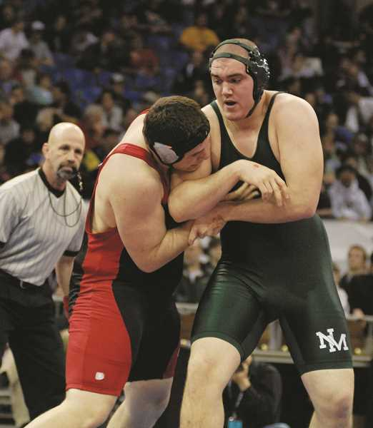 FILE PHOTO - At North Marion High School, Cooper was a two-time runner up in the 285-pound bracket in the 4A State Championships in 2007 and 2008.