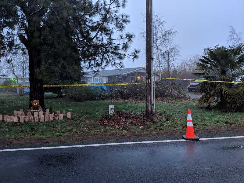 JOHN BAKER - Four people were murdered Saturday, Jan. 19 at this home, located at 32401 S. Barlow Rd. in Canby, near Woodburn.