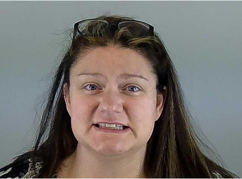 SUBMITTED PHOTO - Vanessa Hancock, of Culver, was arrested for intentionally ramming six vehicles at a car lot in Redmond.