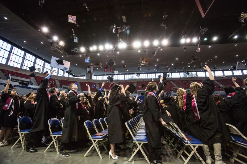 PAMPLIN MEDIA GROUP FILE PHOTO - Portland's graduation rate was better last year than the statewide average, according to a state review.