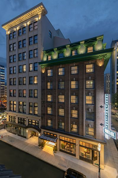 COURTESY: PROVENANCE HOTELS - The Woodlark Hotel is an example of how designers can transform historic structures into hip, new hot spots.