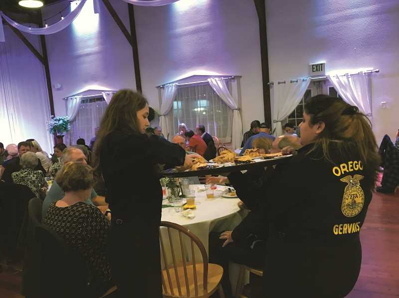 COURTESY PHOTO - Members of the Gervais FFA program will serve as hosts and servers, keeping the event running smoothly from start to finish.