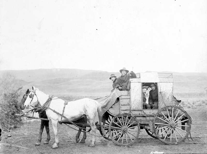 PHOTO COURTESY OF BOWMAN MUSEUM  - The Prineville Shaniko Stage was part of one of the first known stagecoach services to serve the Ochoco country.