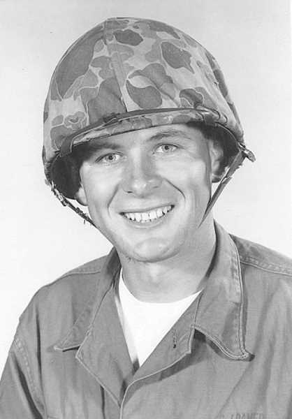 PHOTO COURTESY OF THE DAMER FAMILY  - Private Guido Damer at Camp Pendleton, California, in 1962
