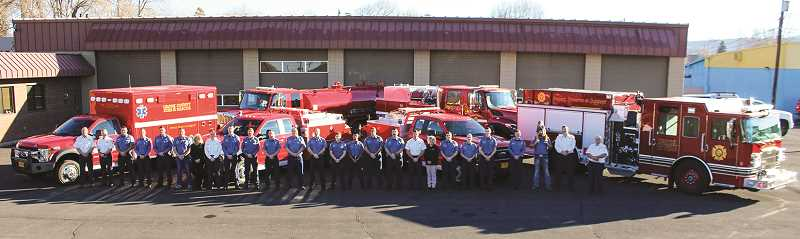 JASON CHANEY/CENTRAL OREGONIAN - Crook County Fire and Rescue members show their new firefighting aparatus.