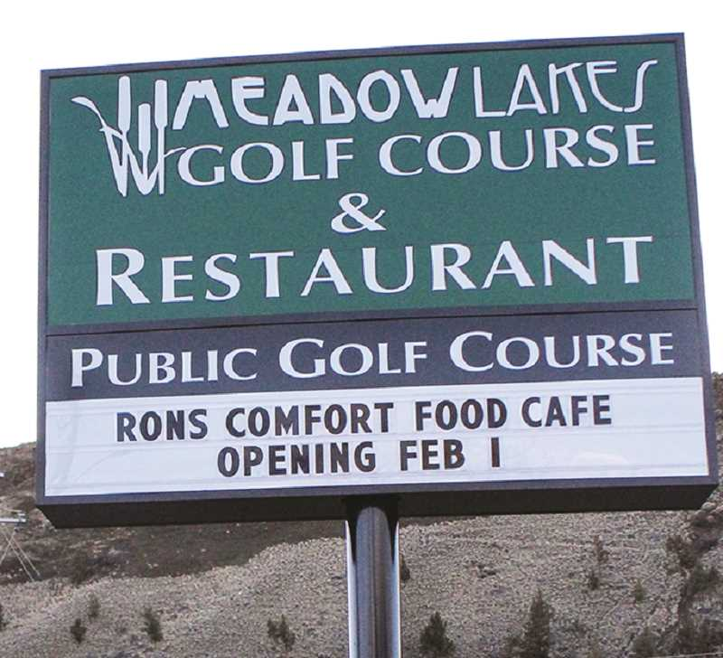 JASON CHANEY - A sign at the west edge of town advertises the upcoming change in restaurant.