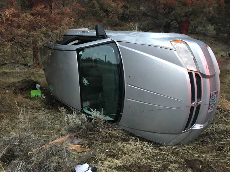 SUBMITTED PHOTO - A Culver woman was arrested in Crook County, following a single-vehicle accident.