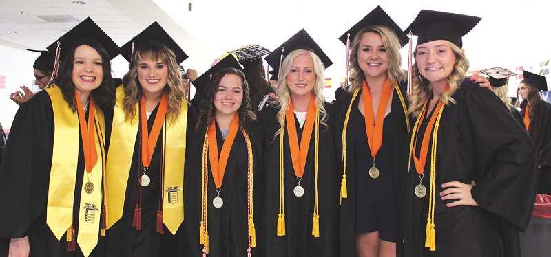 PAMPLIN FILE PHOTO: KRISTEN WOHLERS - Pictured are some of Molalla's 2018 grads.