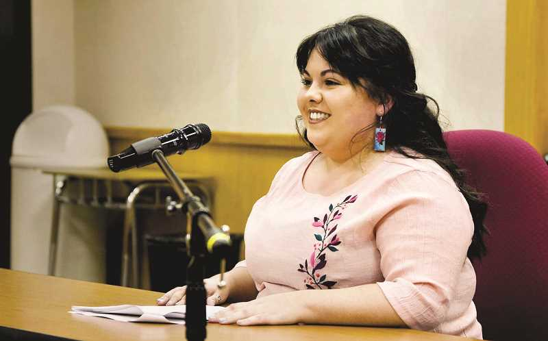 SUBMITTED PHOTO - tor Todd Thomas and is the first Latina to serve on the school board. She is also the youngest member of the board at 25. According to a release by the school district, 'Her appointment lasts through June 30, 2019. She will be on the ballot in May of 2019, as voters will choose the person to serve the remaining two years of Thomas' term through June 30, 2021.'
